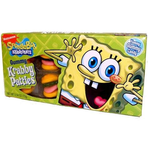 spongebob gummy krabby patties theater box groovycandies