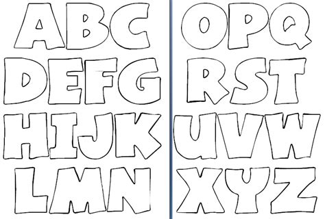 Patchwork Letters Template - letras molde grande patchwork patchwork