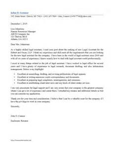 cover letter exles for paralegal assistant cover letter