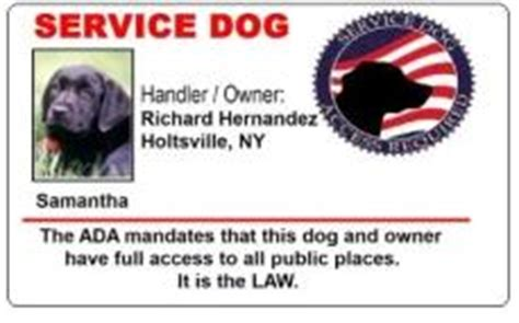 service dog id cards to help you travel with your