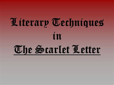 initiation theme in literature definition literary techniques in the scarlet letter ppt video
