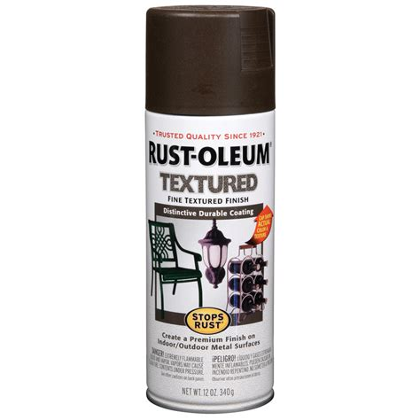 shop rust oleum 12 oz brown spray paint at lowes