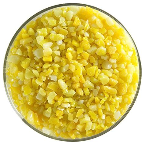 Flat Shoes De Verre Sun Flower sunflower yellow opalescent coarse frit 4oz 90coe made from