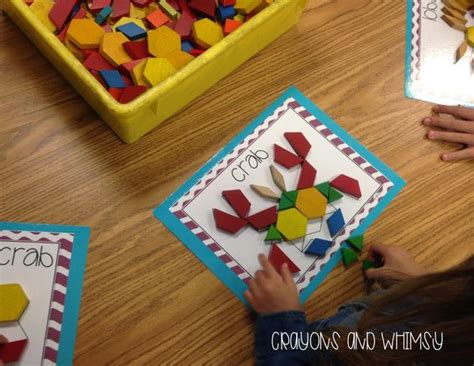 pattern shapes math learning center pattern blocks are a great independent math center that