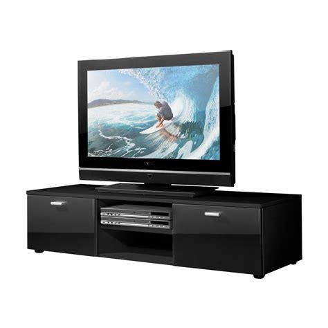 minimal wohnzimmer lowboard schwarz hochglanz tv schrank unterschrank