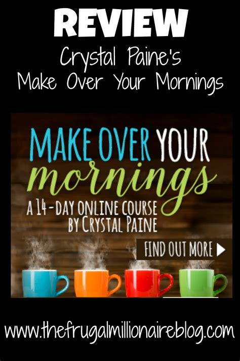 make over review make over your mornings the frugal millionaire