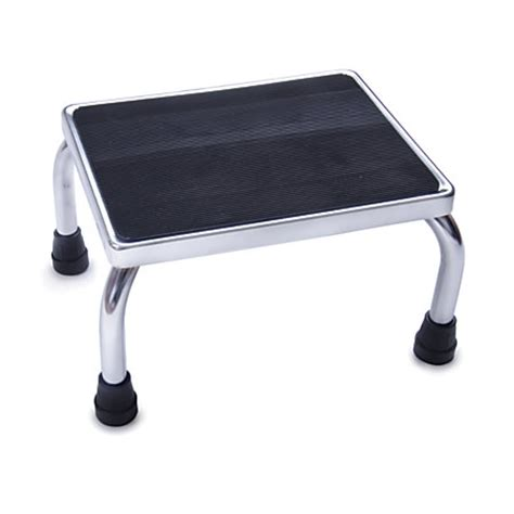 Office Foot Stool by Medline Steel Foot Stool Chrome By Office Depot Officemax