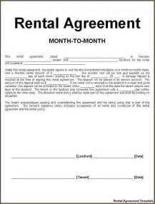 simple rental contract free month to month rental