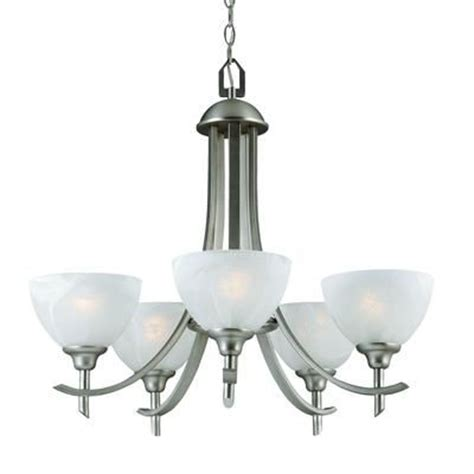 home depot dining room ls hton bay 26 in chandelier brushed nickel finish