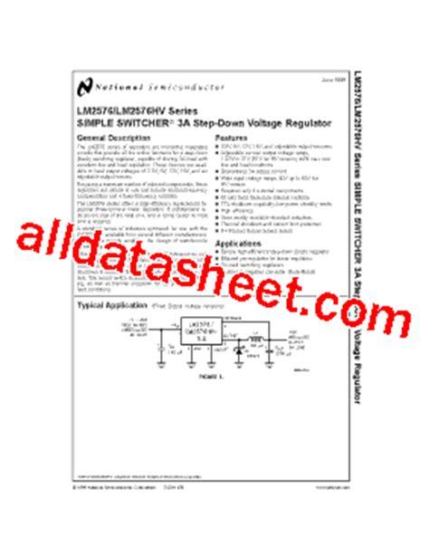 Lm2576hvt Lm2576 Adj lm2576s adj datasheet pdf national semiconductor ti