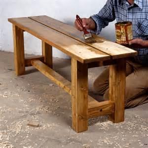 comment fabriquer un banc en bois massif bricobistro
