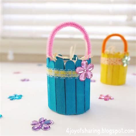 easter basket crafts for toddlers www imgkid com the the joy of sharing cute and easy easter basket craft