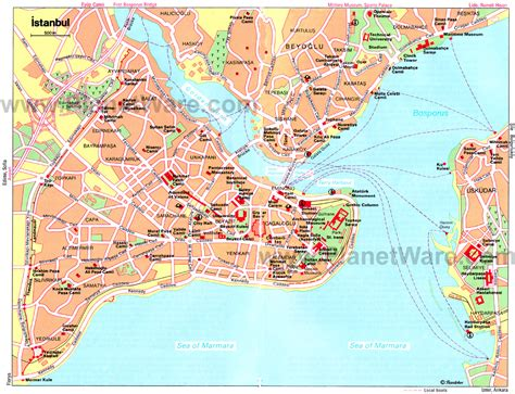 istanbul map tourist attractions istanbul map with tourist attractions fli