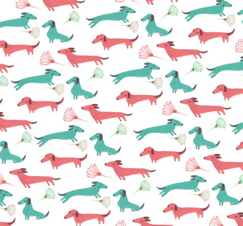 dog pattern wallpaper walking the dog elena mir