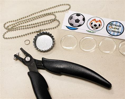 how to make bottle cap jewelry supply list