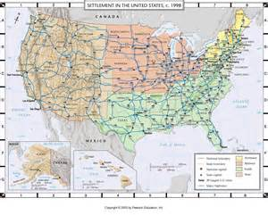 atlas map settlement of the united states c 1998