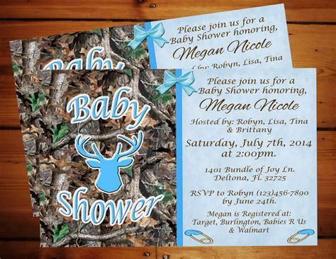Baby Boy Camo Shower Invitations by Boy Blue Camo Baby Shower Invitation Printable