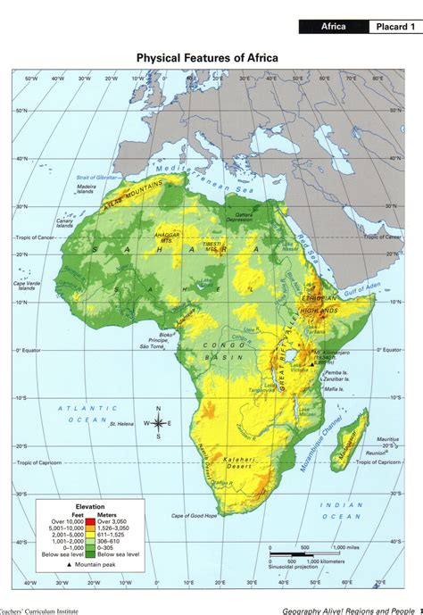 africa map activity bayes