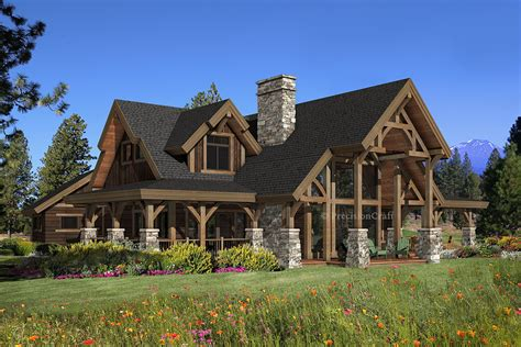 hawksbury timber home plan by precisioncraft log timber