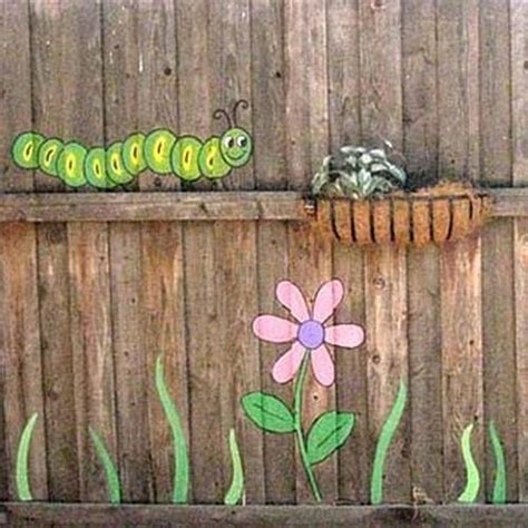 Painting Backyard Fence by Colorful Painting Ideas For Fences Adding Bright Decorations To Yard Landscaping