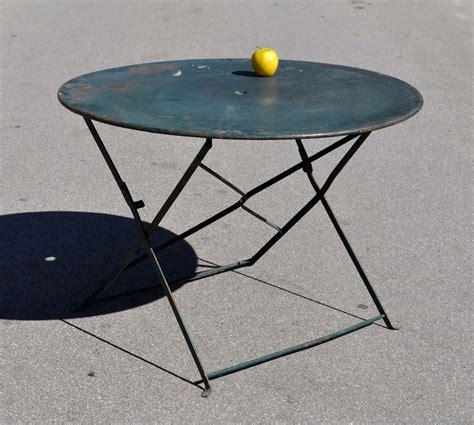 table ronde bois jardin mobilier de jardin ancien vendu