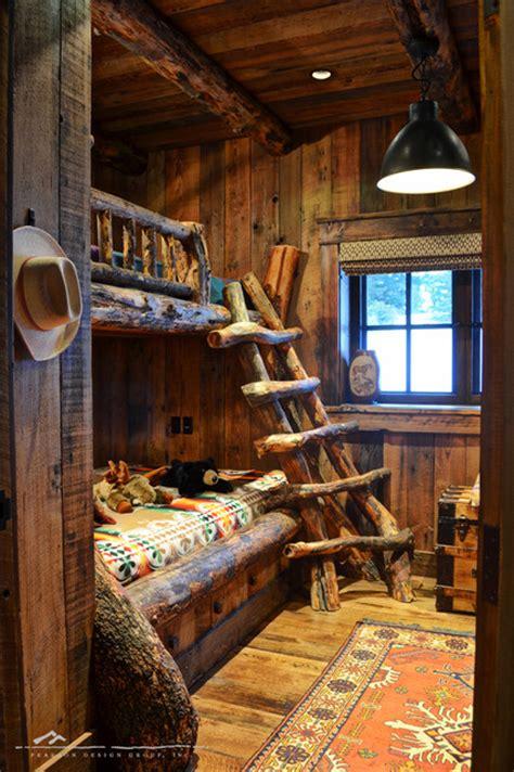 log cabin bunk beds kids bunk room traditional bedroom denver by