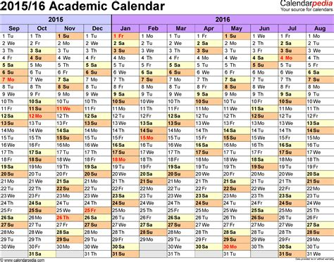 printable academic year calendar 2015 16 printable academic calendar 2016 calendar template 2016