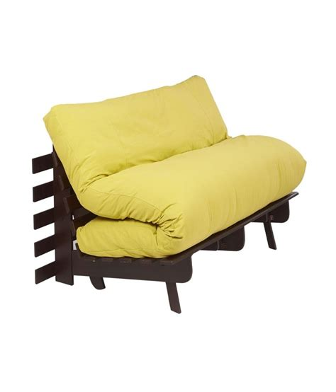 Yellow Futon by Arra Futon Sofa Bed With Mattress Lemon