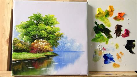 acrylic tree how to paint trees and bushes in acrylics part 1