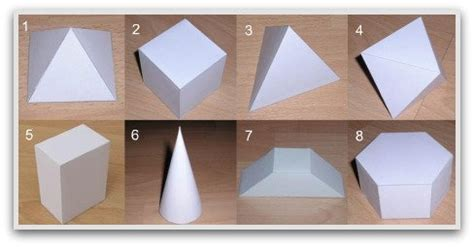 3d Shapes Paper Folding - geometric shapes to print cut color and fold