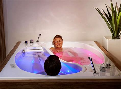 massage bathtub trautwein s yin yang couple bath integrates sound wave