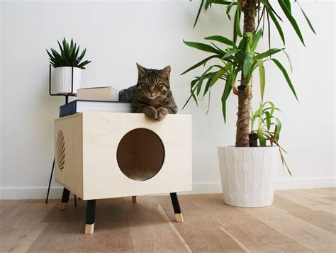 a coffee table for cats technabob a coffee table designed for you and your cat