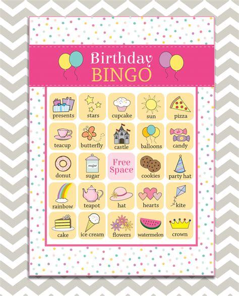 printable birthday bingo cards birthday bingo images reverse search