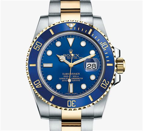 Rolex Chronometer Combi Gold Blue rolex submariner date yellow rolesor combination of 904l steel and 18 ct yellow gold