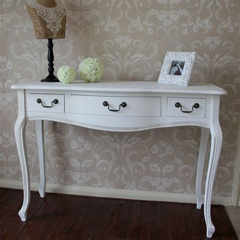 bedroom console table white three drawer console table french painted furniture