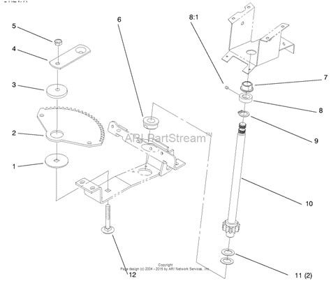 Sn Lower 1 toro 72045 265 6 yard tractor 1997 sn 7900001 7999999 parts diagram for lower steering