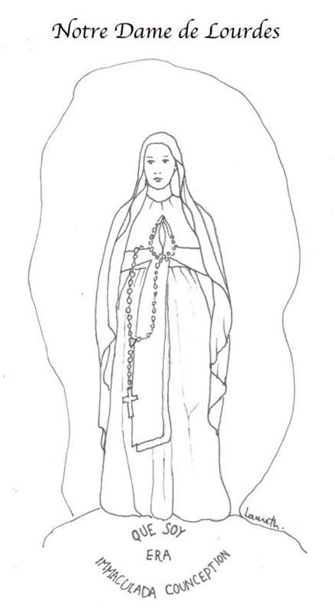 our lady of lourdes coloring pages