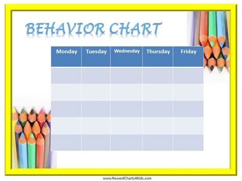 printable incentive charts for school behavior charts for students edgrafik