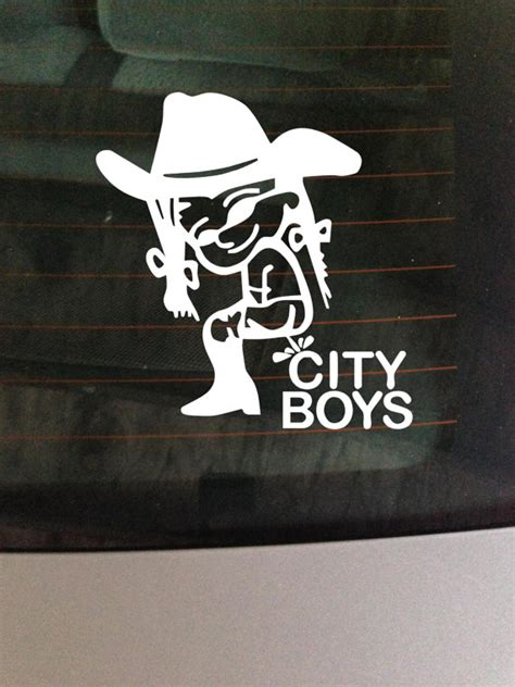 Car Wall Stickers For Boys girl peeing on city boys car truck decal wall vinyl