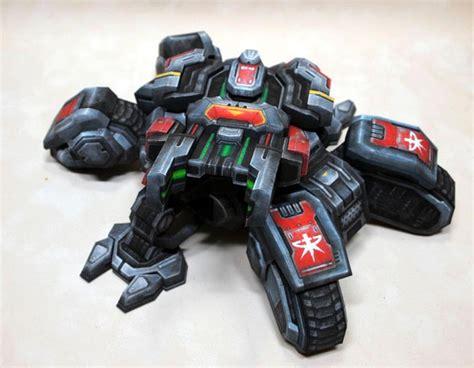 Starcraft 2 Papercraft - starcraft 2 siege tank paper craft gadgetsin