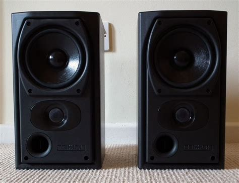 mission 731 le bookshelf surround speakers black mint ebay