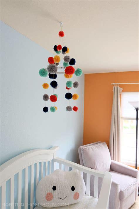 How To Make A Paper Mobile For Nursery - diy pom pom nursery mobile home decorating trends homedit