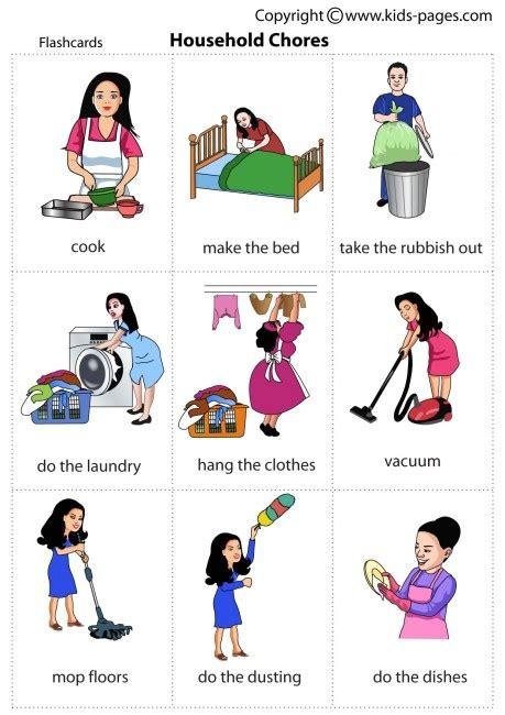 children doing household chores clipart clipartsgram