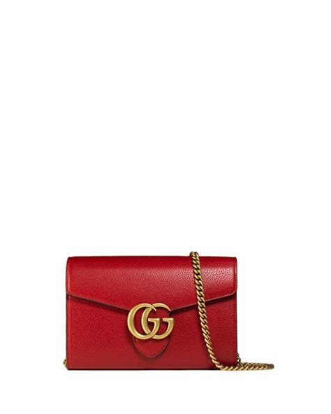 Gucci Marmont Wallet On Chain gucci interlocking gg marmont leather wallet on chain