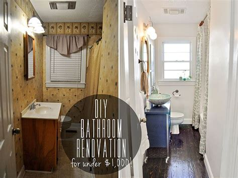 diy bathroom remodel before and after before after diy bathroom renovation under 1 000