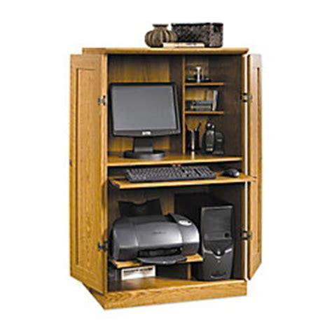 Office Depot Computer Armoire Sauder Computer Armoire 54 18 H X 30 34 W X 21 D Carolina Oak By Office Depot Officemax