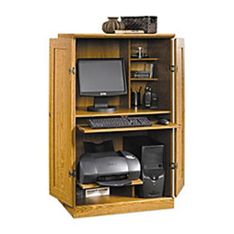 computer armoire office depot sauder computer armoire 54 18 h x 30 34 w x 21 d carolina