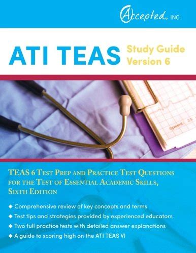 ati teas study manual sixth edition teas 6 test study guide practice test questions 6th edition book for the test of essential academic skills books best ati teas study guide version 6 teas 6 test prep and