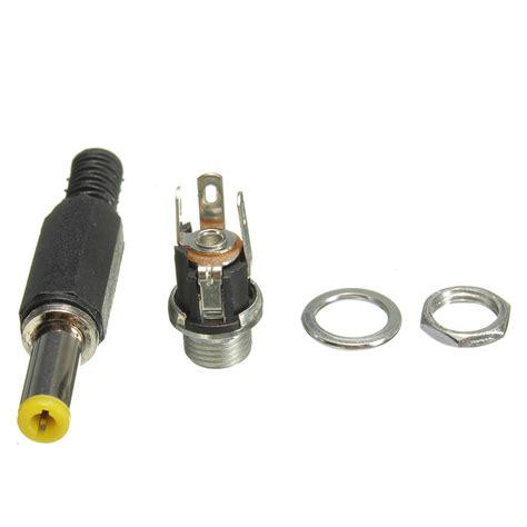 Soket Socket Dc Konektor 5x 2 1mm x 5 5mm panel mount socket and dc