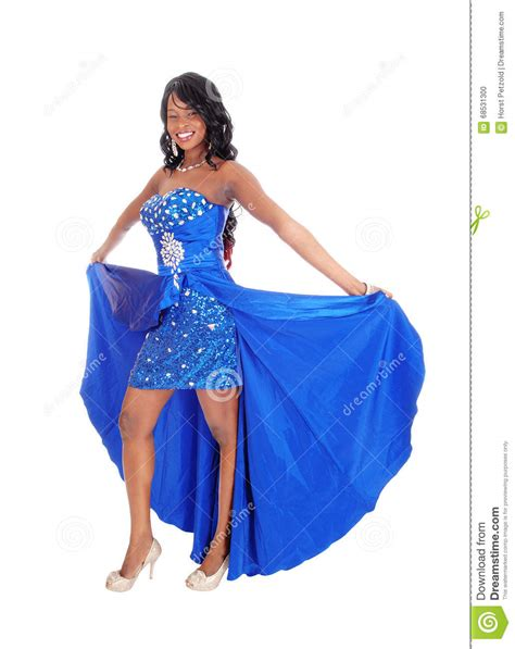name of black women in blue dress in viagra commercial african american woman in blue dress stock photo image